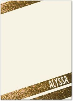 Sheer Glitz - Personalized Notepads in Linen | Petite Alma