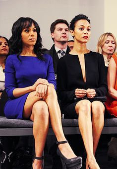 Kerry Washington & Zoe Saldana...BEAUTY!! BTW Zoe looks awesome with the short cut!!