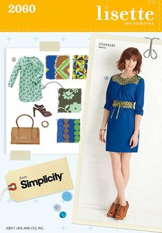 Simplicity Sewing Pattern 2060: Misses' Dresses, R5 (14-16-18-20-22)