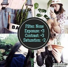 Exposure +3 Contrast +3 Saturation -2