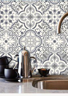 Tile Decals Stickers for Kitchen Backsplash Floor Bath Removable Waterproof: Tile Decals, Wall Tiles, Vinyl Decals, Vinyl Tiles, Linoleum Flooring, Bathroom Flooring, Floors, Faux Murs, Murs Beiges