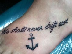 Anchor foot tattoo best friend tattoo matching tattoo