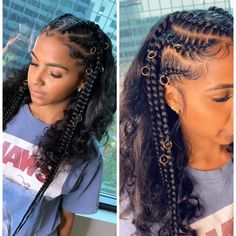 65 Amazing Box Braids Hairstyles And Haircuts . 65 Amazing Box B Feed In Braids Hairstyles, Baddie Hairstyles, Weave Hairstyles, Girl Hairstyles, Indian Hairstyles, Braided Hairstyles Natural Hair, Braids On Natural Hair, Black Hair Braid Hairstyles, Black Toddler Hairstyles