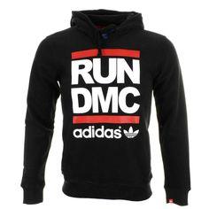 adidas run dmc | Adidas Originals Run DMC Hoodie Jumper Black