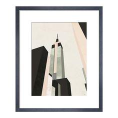 Empire State, Framed Print