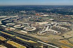 Newark Airport, New Jersey across the Hudson River from Manhattan, New York