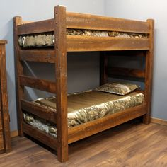 Wooden bunkbeds | These bunk beds are heavy on quality but light on the budget