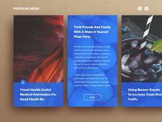 News - Day 94 designed by Sergiu Radu. Connect with them on Dribbble; Mobile Ui Design, App Ui Design, User Interface Design, Responsive Web Design, Ui Web, Card Ui, News Web Design, Blog Layout, Ui Design Inspiration