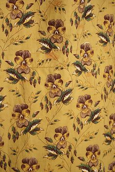 1840 Dress printed cotton detail