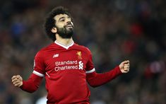 Download wallpapers Mohammed Salah, portrait, football game, Liverpool FC, Egyptian football player, Premier League, England