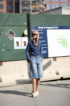 Charlotte in NYC. #TheFashionGuitar street style denim