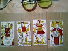Marseille Hes Tarot, re-creation process, trumps in making Iron Age, Tarot, Celtic, Black And White, Holiday Decor, Artist, Color, Marseille, Black White