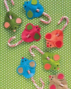 Mouse candy cane holder craft