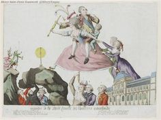 A caricature of the royal family's flight from the Tuileries Palace.