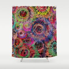 Floral abstract(40). Shower Curtain