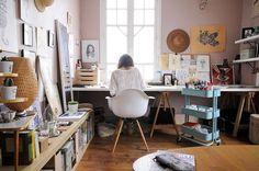 En el estudio de Little Madi vía SIngulares Mag (fotos: Julien Fernandez)