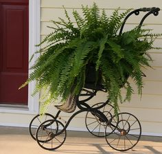 Adorable porch decoration.  Just think of all the possibilities of what could sit inside....