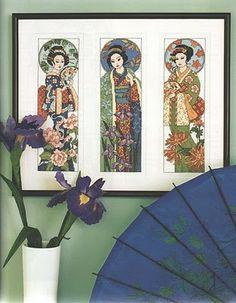 FREE Cross Stitch: 3 geishas