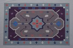 Tribe Pattern Cotton Dhurrie Rug - 4x6, Handwoven Rug, Bohemian Rug, Southwestern Rug, Kilim Rug, Moroccan, Ethnic, CD-117