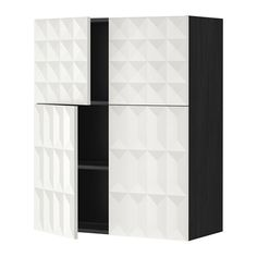 METOD Bovenkast m planken/4 deuren IKEA Je kan de afstand naar behoefte aanpassen, omdat de plank verstelbaar is.