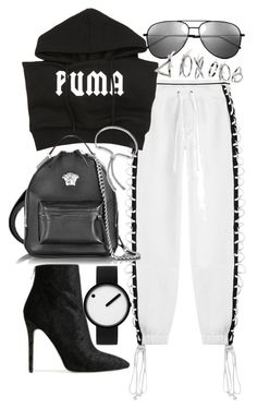 """Untitled #21448"" by florencia95 ❤ liked on Polyvore featuring Puma, Versace, Monica Vinader, Yves Saint Laurent, Topshop, Baldwin and Rosendahl"