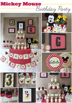 Mickey Mouse Birthday Party Ideas via @Tonya Seemann @ Love of Family & Home