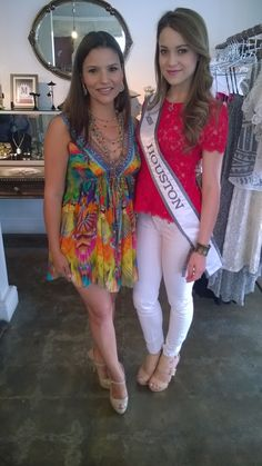Heaven on Earth Gourmet Affairs Grand Opening of Mio Boutique  Here with Miss Houston 2014 Ligia de Uriarte, Heaven on Earth's Cristal Ordonez celebrates the store's successful introduction to Houston's upscale clientele at the store in River Oaks, Houston, Texas. http://heavenonearthgourmetaffairs.com/index.html