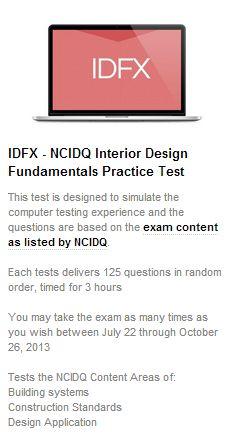 NCIDQ IDFX practice exam