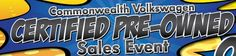 Come on over and join us for our Certified Pre-Owned Sales #Event until June 30th! We've got a great selection of #VWs that could be the perfect touch to your #summer drives.   http://www.commonwealthvw.com/volkswagen-reduced-price-cpo-sale-dealer-9433-sid-51666.html