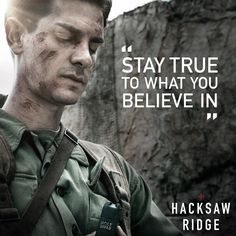 "794 Likes, 15 Comments - Hacksaw Ridge (@hacksawridge) on Instagram: ""Desmond Doss (Andrew Garfield) always stood up for what he believed in. #HacksawRidge"""