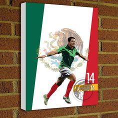 Javier Hernández 14 Canvas Print #soccer #wallart #decor #canvas #art #poster #graphicdesign #soccerart #football #futbol #etsy #g17 #graphics17 #etsy
