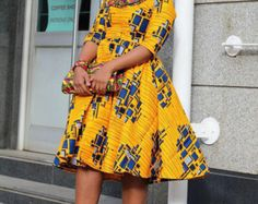 Items similar to Army green african print dress, ankara dress, african clothing, african print dress on Etsy African Party Dresses, African Dresses For Women, African Women, African Fashion, Bardot Style Dress, Ankara Clothing, Women's Clothing, Maxi Robes, Ankara Dress