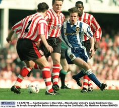 pa-168323 - Taking on Southampton's defence for United in April 1996