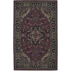 @Overstock.com - Nourison Hand-tufted Caspian Red Wool Rug (5' x 8') - The premium quality of this 100-percent wool India House rug will make this a beautiful accent in your home or office for years to come. This hand-tufted rug features shades of red, rust, gold, blue, black, purple and beige.  http://www.overstock.com/Home-Garden/Nourison-Hand-tufted-Caspian-Red-Wool-Rug-5-x-8/4829078/product.html?CID=214117 $191.99