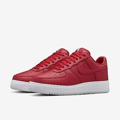 hot sale online f9f1d d0764 Nike Nikelab Air Force 1 Low Men s Size 9.5 Shoes Gym Red White 555106-601