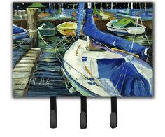 Night on The Docks Sailboat Leash Holder and Key Hook
