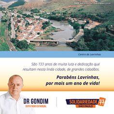 Obrigado Lavrinhas, por acompanhar meu trabalho e me apoiar. Vamos continuar lutando pelo desenvolvimento da cidade. #FichaLimpa #77000 #DrGondim #votedrgondim77000 #Social