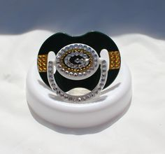 Green Bay Packers Blinged Out Baby Pacifier by BlingedOutThings