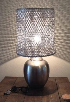 Recycled lamp from JD Metals & Cantab Lamp Shade
