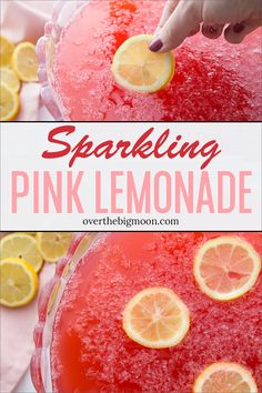 Hawaiian Punch Pink Lemonade This delicious and sweet Pink Lemonade Sparkling Fruit Punch recipe is perfect for family gatherings parties baby showers and moreFrom overthebigmoon Pink Punch Recipes, Pink Lemonade Recipes, Party Punch Recipes, Wedding Punch Recipes, Summer Punch Recipes, Alcohol Punch Recipes, Pink Drink Recipes, Sparkling Fruit Punch Recipe, Sparkling Punch