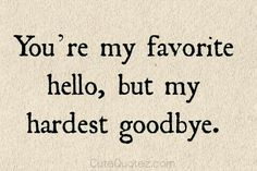 Our good bye is never told....my K*CHU