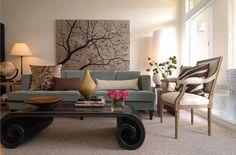 Disporre i quadri sopra un divano - Quadro dietro al divano