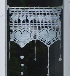 28 - Patron crochet tutoriel de rideaux brise bise au crochet motifs coeurs : Tutoriels de fabrication par ladeuxl-s-boutique