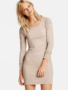 Moto-inspired and oh-so-cute. | Victoria's Secret Moto Sweaterdress