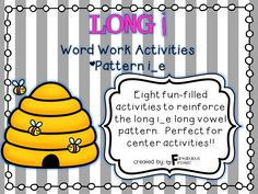 This Long i Word Work unit has 8 activities that are ideal for independent work or center work. This unit focuses on the long CVCe pattern for long i.