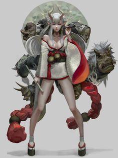 Rhb_RBS : Photo ArtStation - Umbrella devil ~, by Fish man ( Yu Ing ) Fantasy Character Design, Character Concept, Character Inspiration, Character Art, Concept Art, Anime Fantasy, Fantasy Girl, Fantasy Characters, Anime Characters