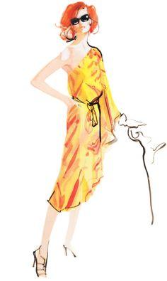 Neiman Marcus Tumblr ·Illustration by David Downton.