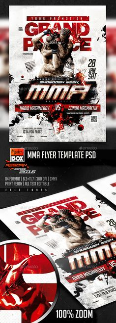 Boxing Match Flyer  Flyer Template Template And Photoshop