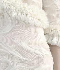 Fabric Manipulation for Fashion - beautifully rippling pleat patterns - textured surfaces; 3D textiles // Chanel Haute Couture
