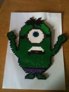 The Incredible Hulk Minion hama perler beads by Ally Burgoyne:
